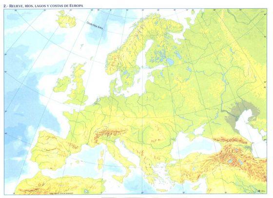 Mapa Mut D Europa.Map Quiz Europa Mapa Fisico Europa Fisica