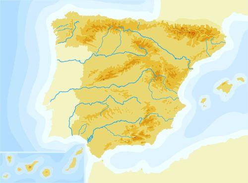Cabo Ortegal Mapa Fisico.Imprimir Mapa Fisico De Espana 2 2 Mapa Fisico Espana