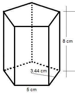 Test: Vol  de prismas y piramides (cálculo - pirámides
