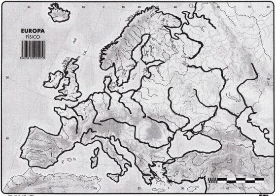 Mapa Mudo Relieve Europa.Mapa Interactivo 1º Eso Relieve Europa Geografia 1º