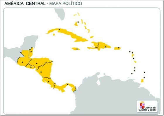 Mapa Interactivo America Politico.Mapa Interactivo America Central Paises Geografia 3º