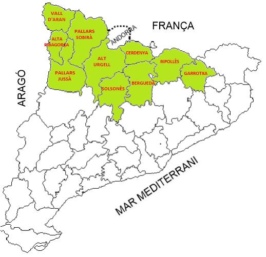 Mapa De Les Comarques De Catalunya I Capitals.Map Quiz Capital De Comarques Muntanya 3º Primaria