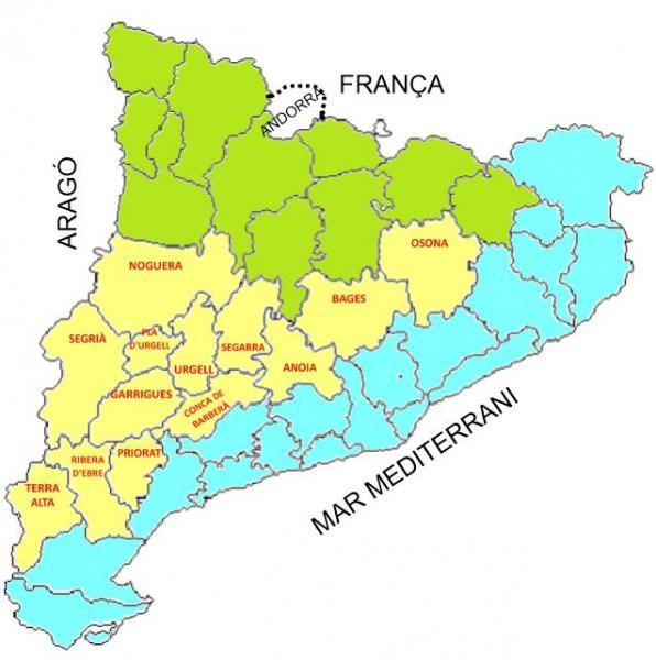 Mapa De Les Comarques De Catalunya I Capitals.Map Quiz Capitals De Comarca De Plana Sociologia 4º