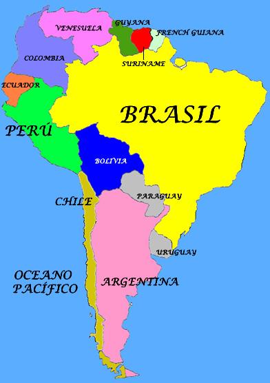 Map Quiz Mapa De Sur America Historia 5º Primaria Sociales