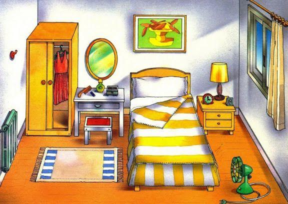 Print Partes del cuarto en Inglés. lengua extranjera. Paula Vargas A...