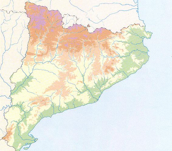 Mapa Fisic Espanya Mut.Map Quiz Mapa Del Relleu De Catalunya Geografia Relleu