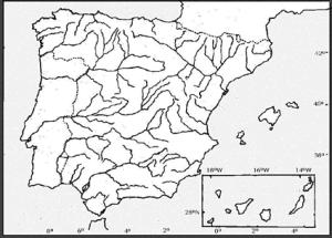 Mapa De España Mudo Rios Para Imprimir.Mapa Interactivo Rios De Espana Ies P Felipe Geografia 1