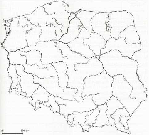Map Quiz Rzeki Polski Geography Geografia Polski Rzeki