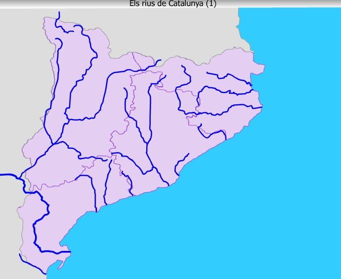 Rios De Cataluña Mapa.Mapa Interactivo Rius De Catalunya 1 5º Primaria