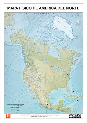 America Del Norte Mapa Fisico Mudo.Map Quiz Mapa De America Norte 3º E S O Geografia