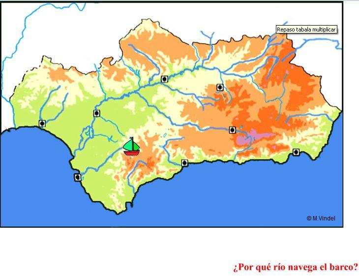 Mapa De Andalucía Físico.Mapa Interactivo Mapa Fisico De Andalucia Geografia 3º