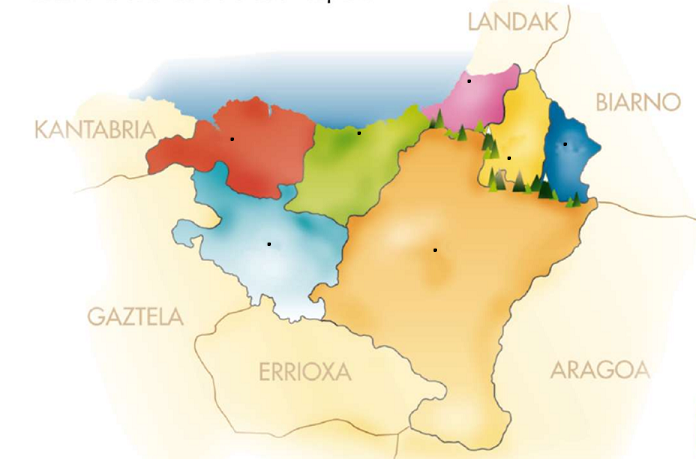 Euskal Herriko Mapa Politikoa.Print Euskal Herriko Mapa Mutua 3º Primaria Larraitz