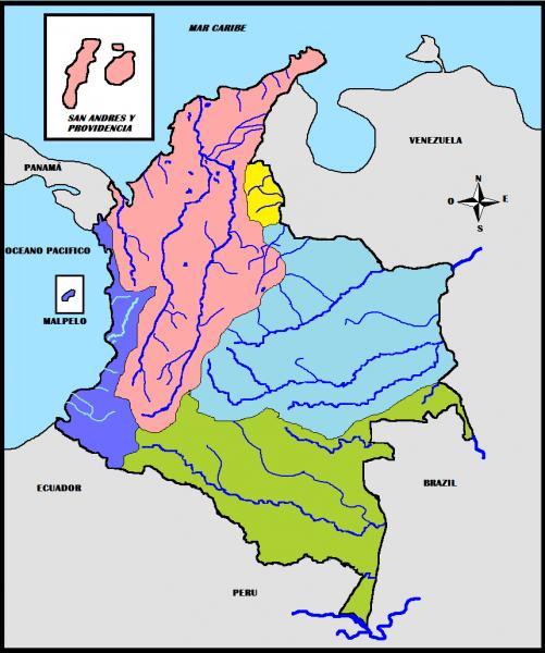 mapa interactivo vertientes de colombia 11º secundaria sergi