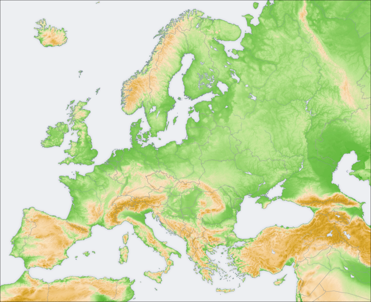 Mapa Fisico Mudo Rios De Europa Para Imprimir.Map Quiz Mares Rios Europa Geografia 1º E S O Cepa