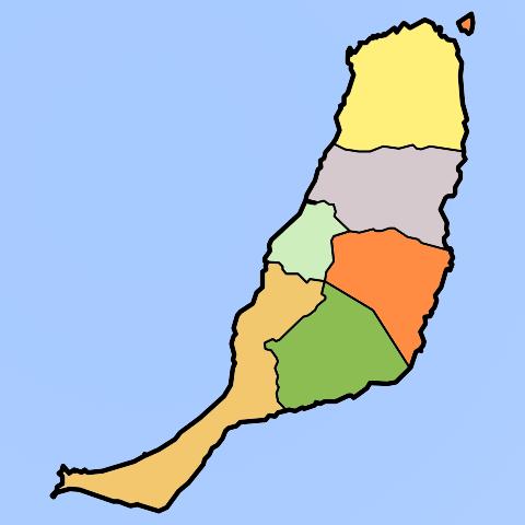 Mapa De Fuerteventura Municipios.Print Mapa Municipios Fuerteventura Geografia Elizabeth
