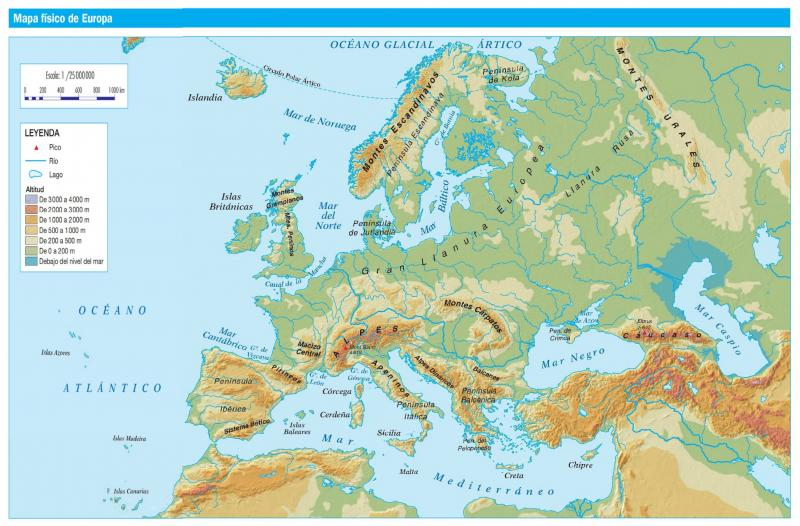 Print Map Quiz Weather Map European Locations History 1º E S O Geography Mapping