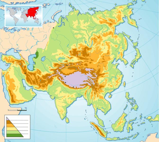 Montes Altai Mapa Fisico.Print Map Quiz Mapa Fisico De Asia Oriental Geografia 1º E S O Relieve