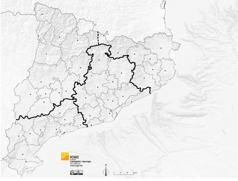 Mapa Interactivo Localitzar Comarques Província Lleida Comarques De Catalunya Medi Social Comarques De Lleida