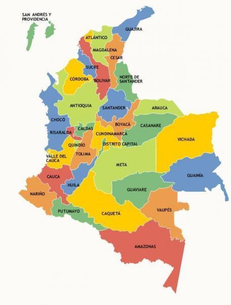 Mapa De Colombia Ciudades.Mapa Interactivo Ciudades Capitales De Colombia Geografia