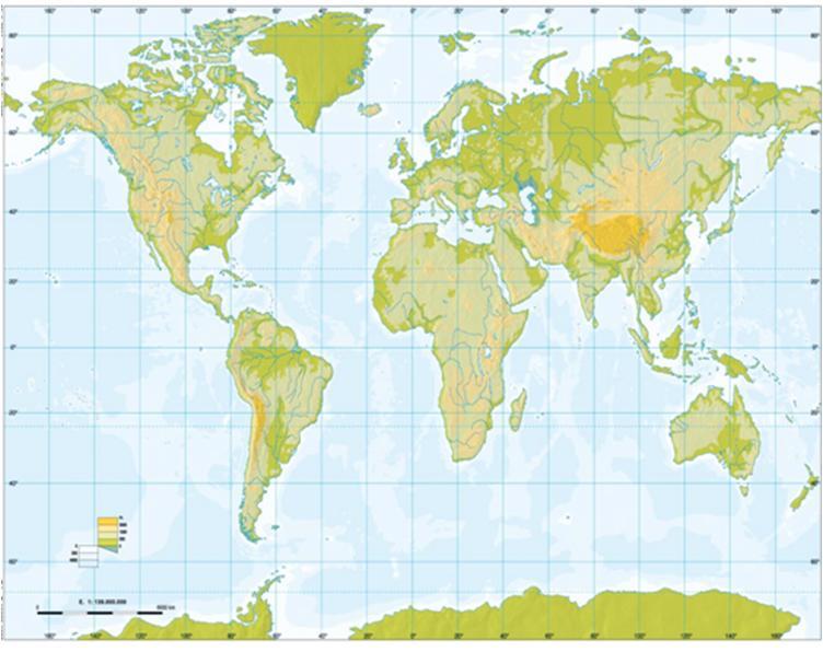 Mapa Fisic Del Mon.Print Mars Etc Geografia Noa Batlle Vroegrijk Educaplay