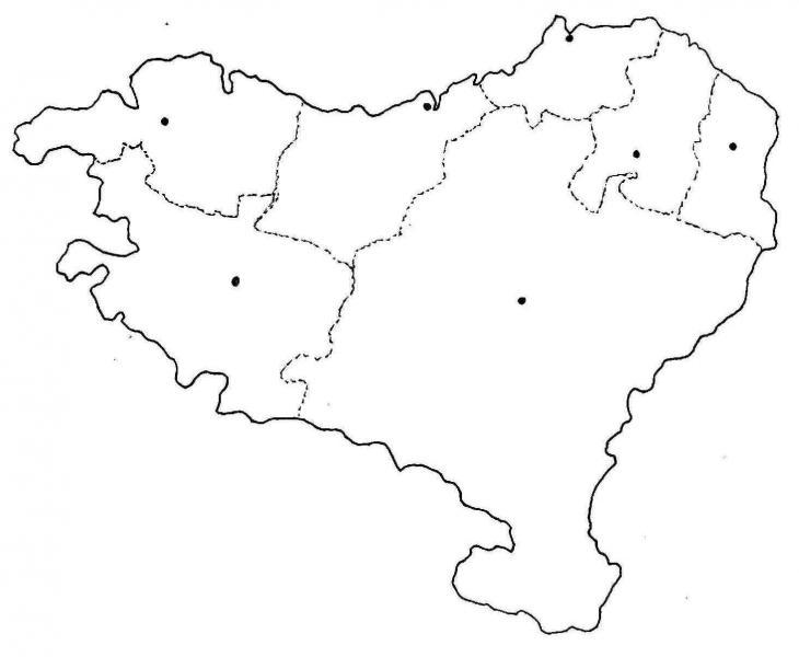 Euskal Herriko Mapa Politikoa.Print Euskal Herriko Mapa Politikoa Geografia Amg Mar