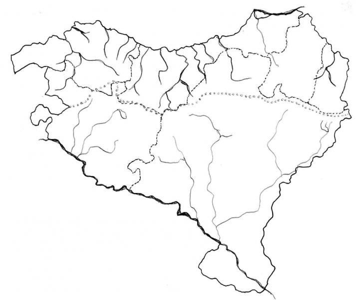 Mapa Fisico De Euskal Herria Para Imprimir.Map Quiz Mapa Fisico De Euskal Herria Geografia 1 Eso