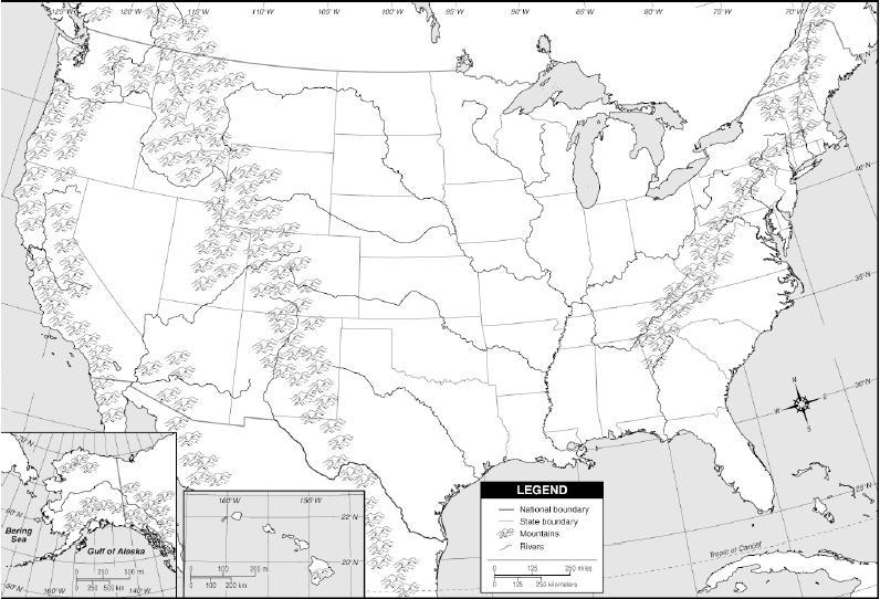 Map Quiz Usa Physical Map Sociology Map Rivers Usa
